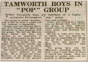 "TAMWORTH BOYS IN ""POP"" GROUP"