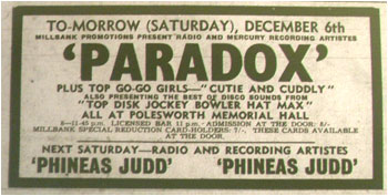 06/12/69 - Paradox, Polesworth Memorial Hall