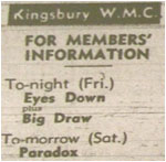 19/11/77 - Paradox - Kingsbury Working Mens Club