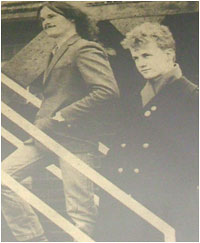 Caption: Looking up…'Dead Captain' duo Barry Douce (left) and Donald Skinner