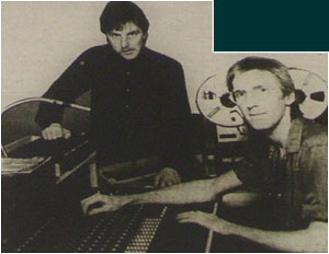 Caption: Poised for success…Phil Smith (standing) and Paul Speare who have just set up Tamworth's only full-time, fully functional recording studio.